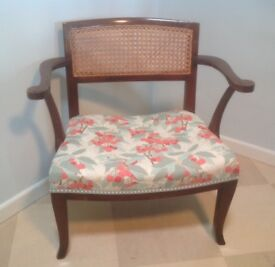Delightful period chair with low seat