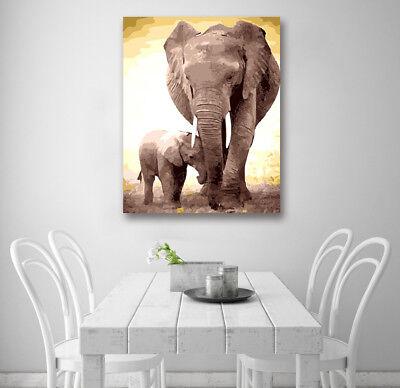 Africa Elephant Modern Wall Art Poster Print Home Room Decor Canvas - Elephant Room Decor