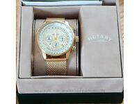 BRAND NEW ROTARY MEN'S GOLD PLATED BRACELET WATCH - £100