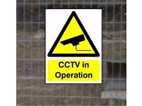 CCTV Corex Safety Warning signs and Stickers printed Plastic Signs on 4mm corex plastic A.3.