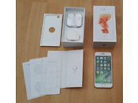 iPhone 6S, Rose Gold, Unlocked, Boxed, 16GB, Great Condition