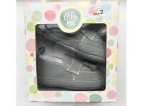 Little Me Grey Baby Boy Shoes