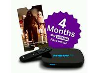 Now TV Smart box with 4 months sky cinema pass NEW Sealed in box.
