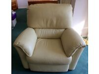 Free beige leather armchair.