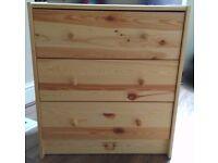 IKEA RASTChest of 3 drawers, pine