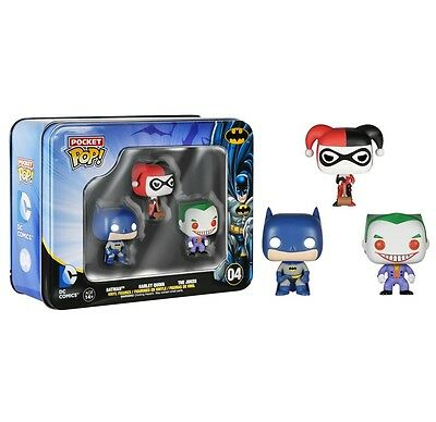 Batman Harley Quinn Joker Funko Pocket Pop! Mini Vinyl Figure 3-Pack Tin