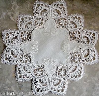 """Delicate Trim White Lace Doily  Estate Design  15"""""""