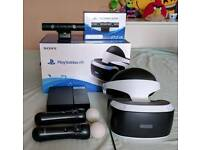 PSVR with PS4 camera and 2 PS Move controllers