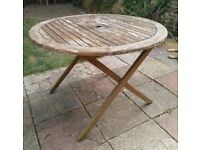 Teak garden table FREE DELIVERY