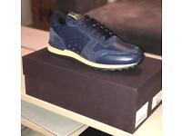 Brand new Valentinos with receipt size 9 navy blue