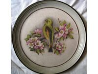Vintage Purbeck Pottery Stoneware Bird Plate