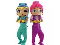 New to market! Shimmer and shine mascots!!