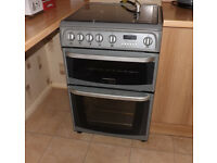 Cannon by Hotpoint 'Carrick' freestanding gas cooker grill and hob in grey slot in