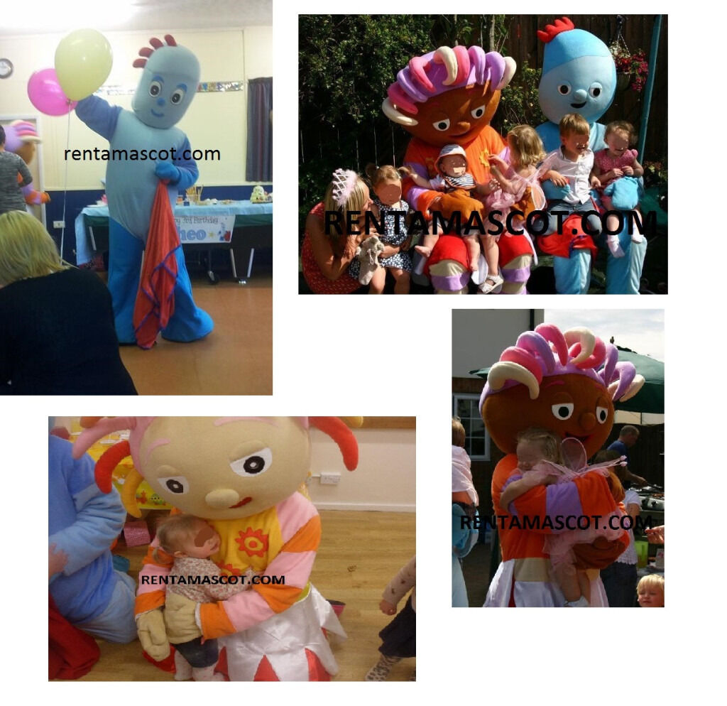 iggle piggle upsy daisy nightgarden cbeebies adult costume kids party entertainer mascot fancy dress