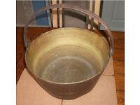 LARGE BRASS PRESERVE PAN---JAM/ MARMALADE ETC.