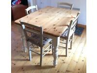 The Good Shelf Company Rustic Farmhouse Table & 4x John Lewis Tavern Dining Chairs
