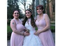 Two bridesmaid dresses