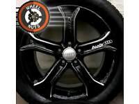 "17"" Custom Audi Techniks black silver almost new tyres."