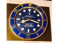 Rolex Submariner wall clock brand new boxed