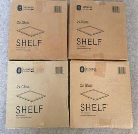 B&Q Kitchen Cupboard Glass Shelves Bundle BNIB