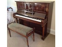 Upright Piano and Piano Stool - FREE to a good home