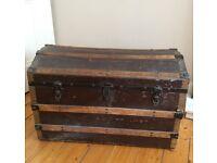 Vintage domed lid storage trunk/chest/blanket box