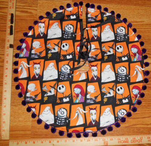 "Nightmare Before Christmas Characters 18"" Halloween Mini Tree Skirt, Tabletop"