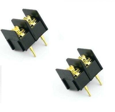 10pcs Black 2 Pin 10mm Screw Terminal Block Connector Barrier