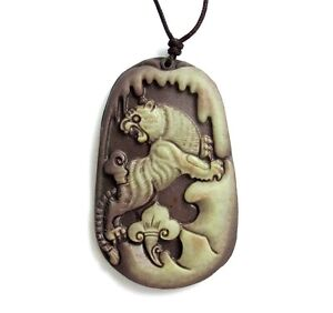 Two-Layer-Natural-Stone-Chinese-Zodiac-Tiger-Amulet-Pendant-Happy-Lucky-Jewelry