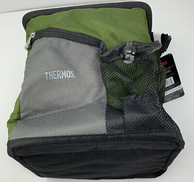 Thermos Insulated Soft Sided Cooler in Green 12 Can BBQ -