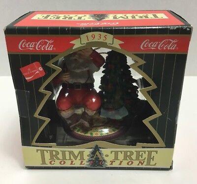 (1996 Coca Cola Coke Christmas Holiday Ornament Trim A Tree Collection Santa 1935)