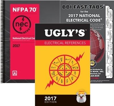 NFPA 70: NEC Spiralbound, Fast Tabs & Ugly's Electrical References 2017 Editions