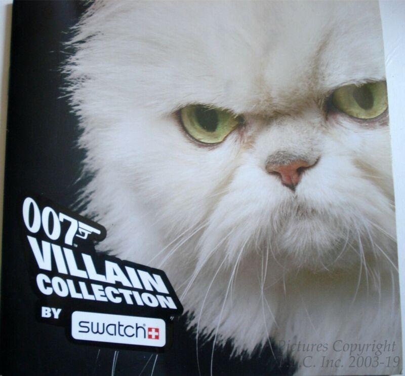 NEW/HTF SWATCH WATCH 007 JAMES BOND VILLIANS CATALOG +BONUS GIFTS-GOOD CONDITION
