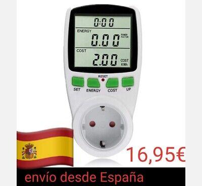 Medidor consumo de energía eléctrica watimetro potencia Kwh tiempo