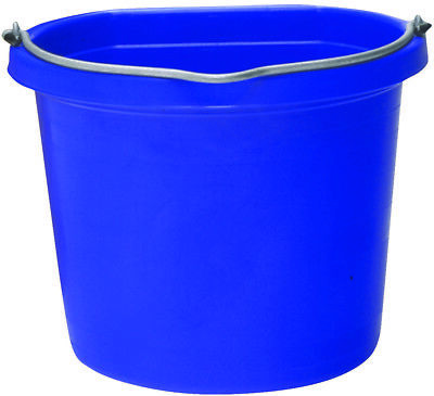 Fortiflex Flat Back Feed Bucket for Dogs/Cats & Small Animals 20-Quart Hot Pink
