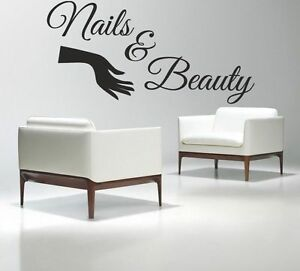 Nails beauty wall art picture sticker hair salon varnish for Stickers salon