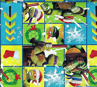 Folded Viacom Nichelodeon TMNT Ninja Turtles Christmas Wrapping Paper 20 sq ft - Tmnt Wrapping Paper
