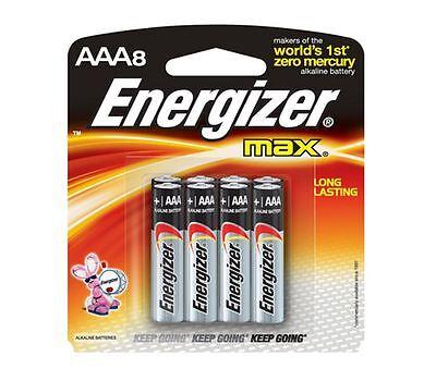Energizer Max Alkaline AAA Batteries 8 Each