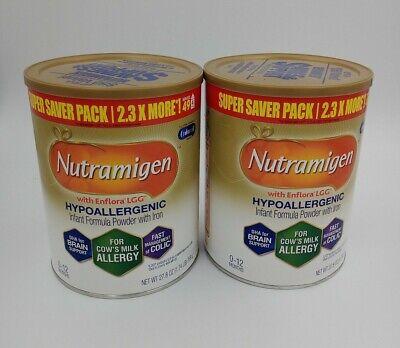 2 Cans Enfamil Nutramigen with Enflora LGG Formula - 27.8oz. 05/01/21