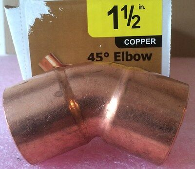 Nibco 1 12 Inch Copper 45-degree Elbow - New - 1-12 Plumbing Fitting