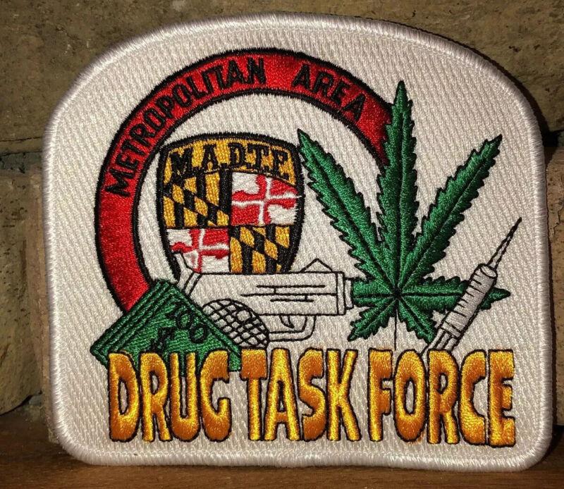 💙MARYLAND State Trooper DRUG TASK FORCE  MARIJUANA PATCH MADTP LEO MSP