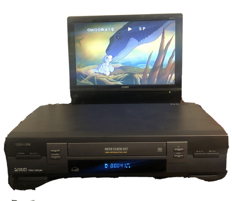 TOSHIBA W-603 VCR VHS Player/Recorder Tested, Working - Good Condition No Remote