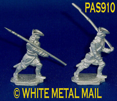 FRENCH 40mm Casting Set PAS910 Karoliner Regiments 1750 Officer and Musketeer
