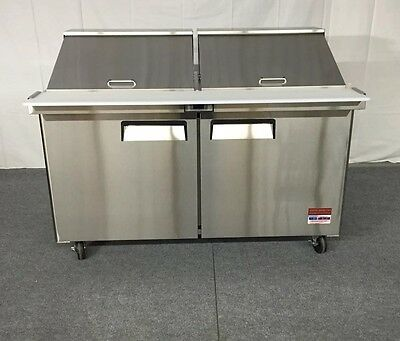 New 60 Sandwich Prep Unit Prep Table Cooler 60 5 Mega Top 24 Pan Refrigerator
