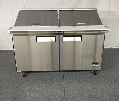 "NEW 60"" SANDWICH PREP UNIT PREP TABLE Cooler 60 5' MEGA TOP 24 Pan Refrigerator"
