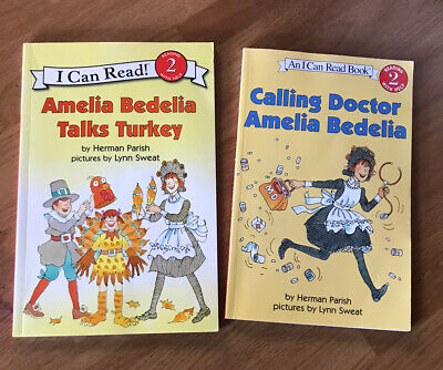 Lot Of 2 Amelia Bedelia I Can Read Level 2 Books Herman Parish Doctor & Turkey