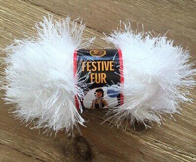 Lion Brand Festive Fur Eyelash Yarn - Color #100  Lot #3241 - New