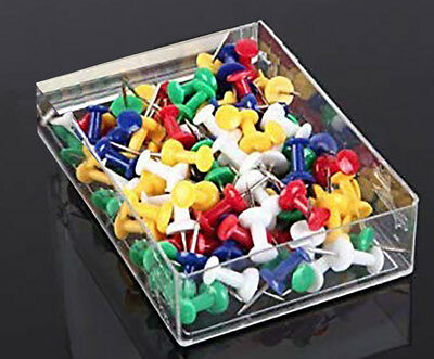 200 Pcs Push Pin Pins Thumb Tack Multi Color 38 Head For Office School Home