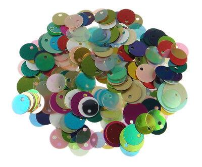 Pailletten Glatt Perlen 250g Mix Bunt 8 - 12mm Kostüm Hobby Deco Basteln R145B