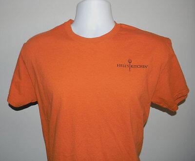 Mens Hells Kitchen T Shirt Yes Chef Omaha Steaks Medium Orange